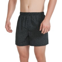 Reed Edward Cotton Boxers (For Men) in Black/White Dots - Closeouts