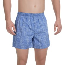 Reed Edward Cotton Boxers (For Men) in Blue Swirl - Closeouts