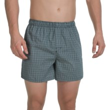 Reed Edward Cotton Boxers (For Men) in Grey Windowpane - Closeouts