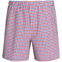 Reed Edward Cotton Boxers (For Men) in Red/Blue Check - Closeouts