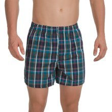 Reed Edward Cotton Boxers (For Men) in Teal Plaid - Closeouts
