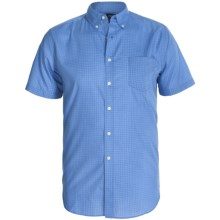 Reed Edward Cotton Shirt - Short Sleeve (For Men) in Blue - Closeouts