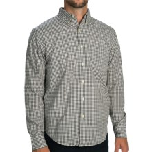 Reed Edward Gingham Check Shirt - Button-Down Collar, Long Sleeve (For Men) in Grey - Closeouts