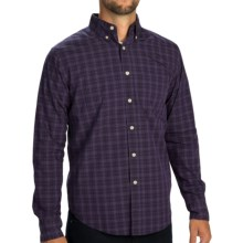 Reed Edward Mini Check Shirt - Button Down, Long Sleeve (For Men) in Plum - Closeouts