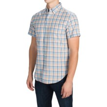 Reed Edward Shirt - Short Sleeve (For Men) in Blue/Orange Plaid - Closeouts