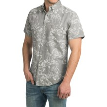Reed Edward Shirt - Short Sleeve (For Men) in Grey Tropical - Closeouts