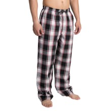 Reed Edward Sleepwear Lounge Pants (For Men) in Black/Red Plaid - Closeouts