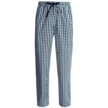 Reed Edward Sleepwear Lounge Pants (For Men) in Green/White Plaid - Closeouts
