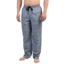 Reed Edward Sleepwear Lounge Pants (For Men) in Grey/Dark Blue Plaid - Closeouts