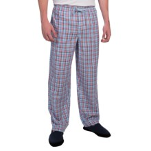 Reed Edward Sleepwear Lounge Pants (For Men) in Red/Blue Multi Check - Closeouts