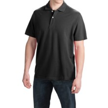 Reed Edward Solid Polo Shirt - Short Sleeve (For Men) in Black - Closeouts