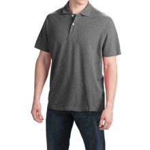 Reed Edward Solid Polo Shirt - Short Sleeve (For Men) in Charcoal - Closeouts