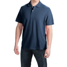 Reed Edward Solid Polo Shirt - Short Sleeve (For Men) in Navy - Closeouts