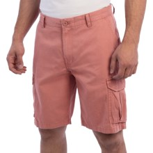 Reed Edward Stonewash Cotton Cargo Shorts (For Men) in Nantucket Red - Closeouts
