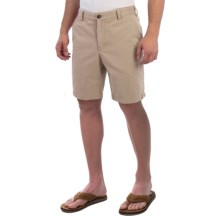 Reed Edward Stonewash Cotton Shorts (For Men) in British Khaki - Closeouts