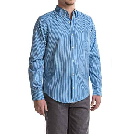 Reed Edward Striped Woven Shirt - Long Sleeve (For Men) in Blue - Closeouts