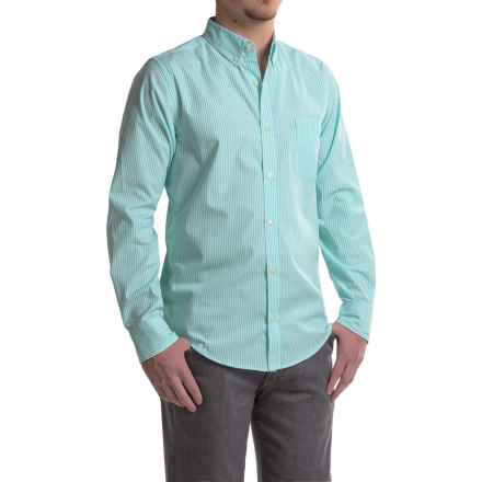 Reed Edward Striped Woven Shirt - Long Sleeve (For Men) in Turquoise - Closeouts