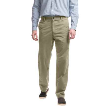 Reed Edward Summer Wash Cotton Pants - Flat Front (For Men) in Khaki - Closeouts