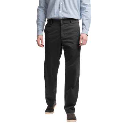 Reed Edward Summer Wash Cotton Pants - Flat Front (For Men) in Midnight - Closeouts