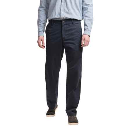 Reed Edward Summer Wash Cotton Pants - Flat Front (For Men) in Navy - Closeouts