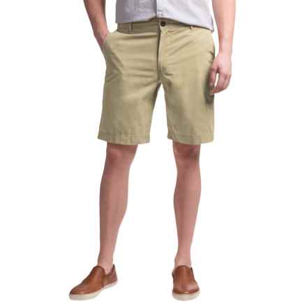 Reed Edward Summer Wash Cotton Shorts - Flat Front (For Men) in Khaki - Closeouts