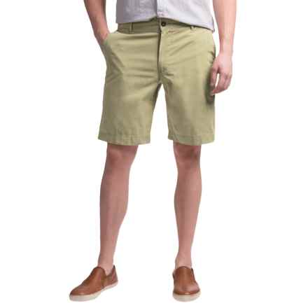 Reed Edward Summer Wash Cotton Shorts - Flat Front (For Men) in Light Khaki - Closeouts