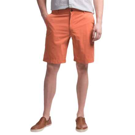 Reed Edward Summer Wash Cotton Shorts - Flat Front (For Men) in Orange - Closeouts