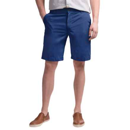 Reed Edward Summer Wash Cotton Shorts - Flat Front (For Men) in Royal Blue - Closeouts