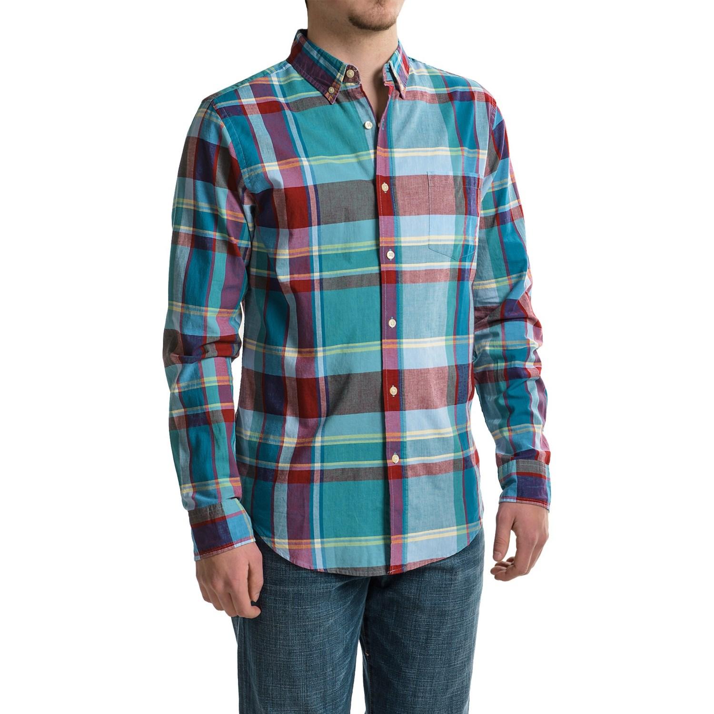 Reed edward woven button down shirt for men save 40 for Mens teal button down shirt