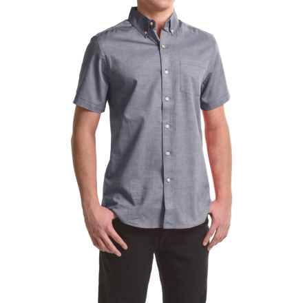 Reed Edward Woven Button-Down Shirt - Short Sleeve (For Men) in Dark Blue - Closeouts