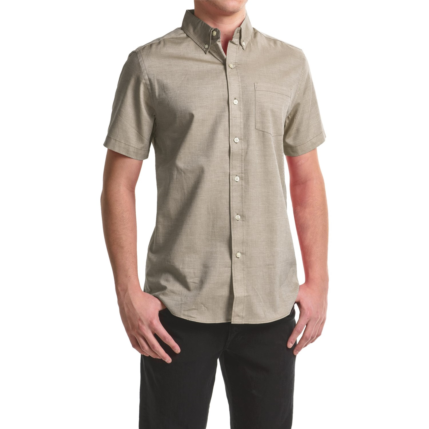 reed edward woven button down shirt for men save 48