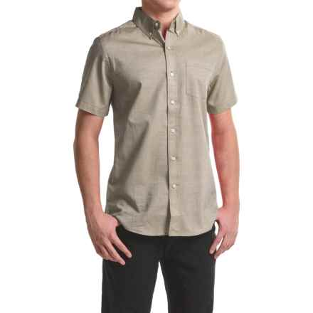 Reed Edward Woven Button-Down Shirt - Short Sleeve (For Men) in Khaki - Closeouts