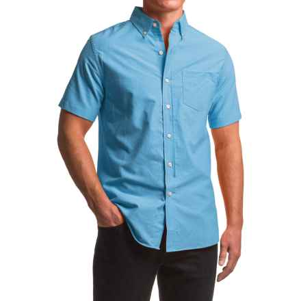 Reed Edward Woven Button-Down Shirt - Short Sleeve (For Men) in Turquoise - Closeouts
