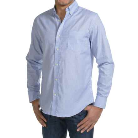 Reed Edward Woven Button Shirt - Slim Fit, Long Sleeve (For Men) in Blue Dot - Closeouts