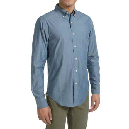 Reed Edward Woven Button Shirt - Slim Fit, Long Sleeve (For Men) in Blue - Closeouts