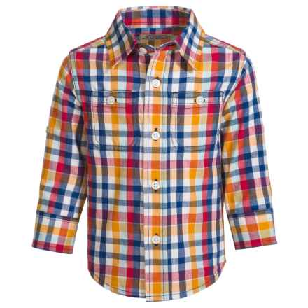 Reed Edward Woven Plaid Shirt - Long Sleeve (For Infants and Toddlers) in Multi Check - Closeouts