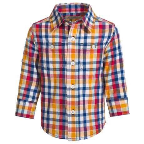 Reed Edward Woven Plaid Shirt - Long Sleeve (For Infants and Toddlers) in Multi Check