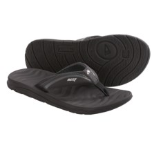 Reef Phantom Flight Flip-Flops (For Men) in Black/Silver - Closeouts