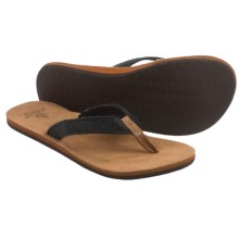 Reef Salty Air Flip-Flops (For Women) in Black - Closeouts