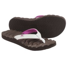 Reef Super Swell Flip-Flops (For Women) in Brown/Berry - Closeouts