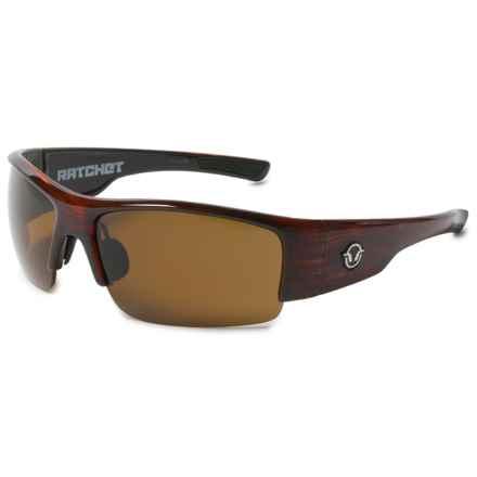 Reflekt Ratchet Sunglasses - Reactor Polarized Lenses in Timber/Reactor Brown - Overstock