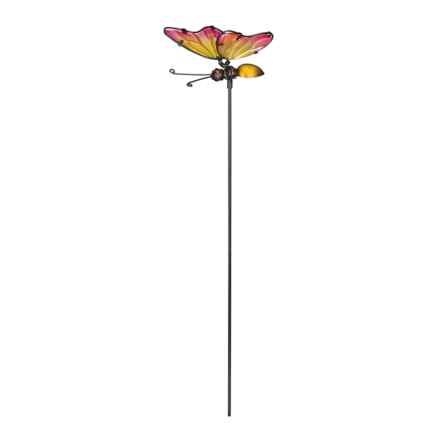 "Regal Art & Gift Mini Garden/Flower Pot Pick - 21"" in Pink/Yellow Butterfly - Closeouts"