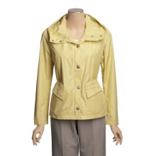Regent Park Faux-Silk Jacket - Water and Wind Resistant (For Women) in Buttermilk - Closeouts