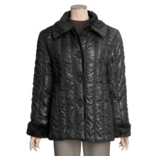 Regent Park Quilted Cire Jacket (For Women) in Black - Closeouts