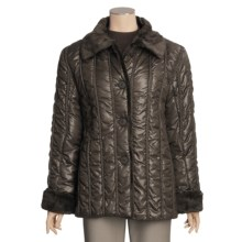 Regent Park Quilted Cire Jacket (For Women) in Taupe - Closeouts