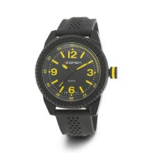 Regimen Classic Analog Watch - Solid Stencil Dial (For Men) in Black/Black/Yellow - Closeouts