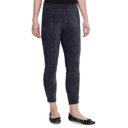 Regular Fit 2 Sport Leggings - Corduroy (For Women) in Navy - 2nds