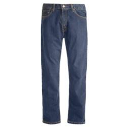 Regular Fit Denim Jeans - 5-Pocket (For Men) in Dirty Dark Denim