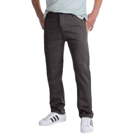 Regular Fit Pants - Flat Front (For Men) in Black - Closeouts
