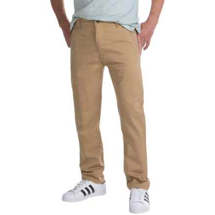 Regular Fit Pants - Flat Front (For Men) in Tan - Closeouts